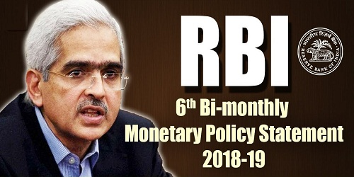 6th Bi-Monthly Monetary Policy Released By Reserve Bank Of India (RBI)