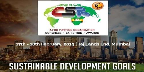 8th World CSR Congress 2019 in Mumbai