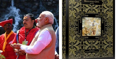 Astounding Bhagavad Gita unveiled by Narendra Modi in Delhi