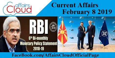 Current Affairs February 8 2019
