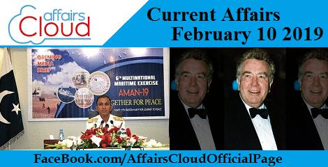 Current Affairs February 10 2019
