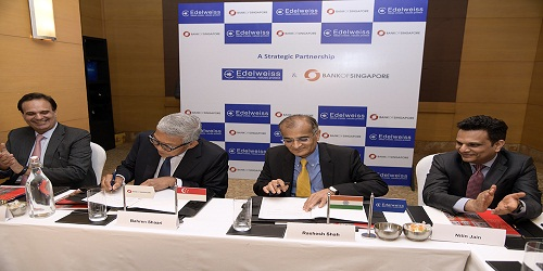 Edelweiss Group signed MoU with Bank of Singapore