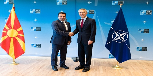 The Prime Minister of the Former Yugoslav Republic of Macedonia(1) visits NATO