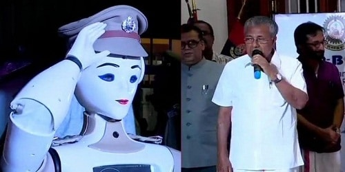 Pinarayi Vijayan inaugurated first humanoid police robot in India