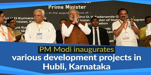 Prime Minister Visited Hubli in Karnataka