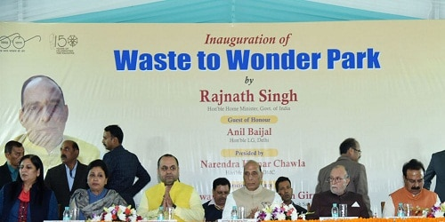 Rajnath Singh inaugurated Waste to Wonder Park in Delhi