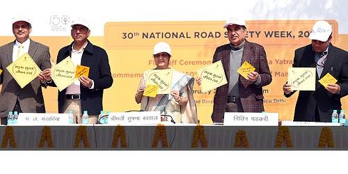 Sushma Swaraj and Nitin Gadkari inaugurated 30th National Road Safety Week