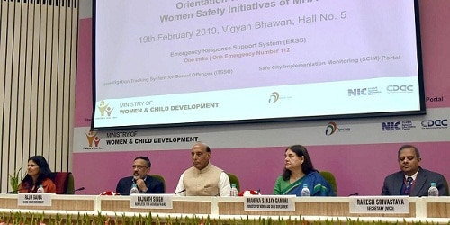 Union Home Minister launched various women safety initiatives