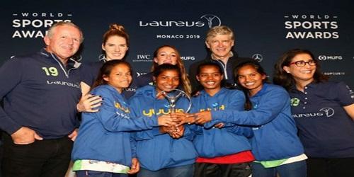 Yuwa won Laureus Sports for Good Honour