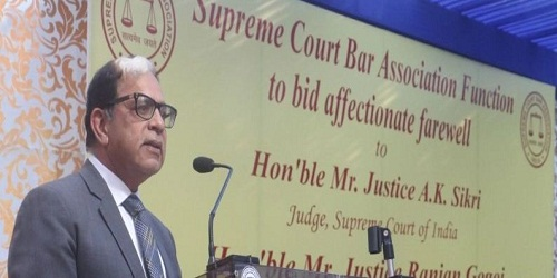 2nd Senior-most Judge of SC Justice Arjan Kumar Sikri retired