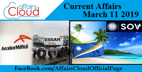 Current Affairs March 11 2019