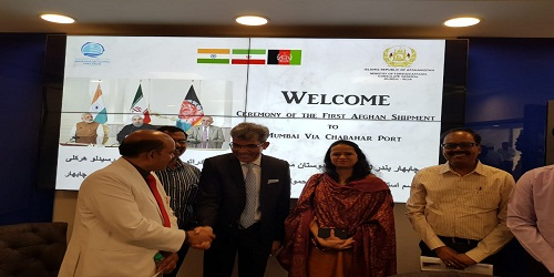 First TIR shipment from Afghanistan arrived in India via Chabahar Port