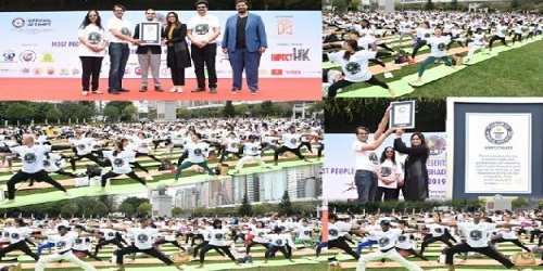 Historic Guinness World Record in yoga in Hong Kong