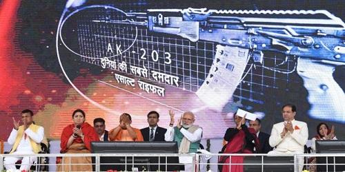 Narendra Modi inaugurated JV to manufacture Kalashnikov rifles in Amethi