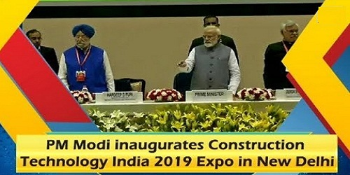 PM Inaugurated Construction Technology India 2019 Expo-cum Conference
