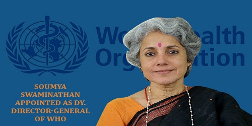 Soumya Swaminathan appointed as Chief Scientist at WHO