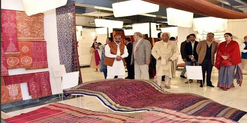 Textiles Minister Smriti Irani inaugurated Refurbished Handloom Haat in New Delhi