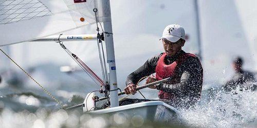 Upamanyu Dutta won Bronze medal in the Asian Open Laser Sailing Championship