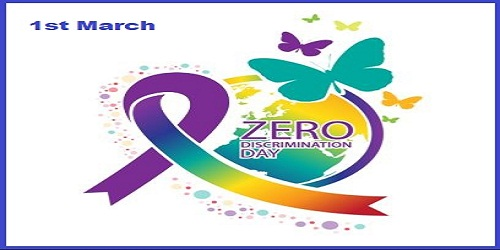 Zero Discrimination day observed on 1st March