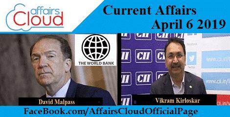 Current Affairs April 6 2019
