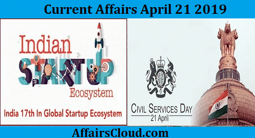 Current Affairs Today April 21 2019
