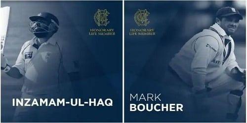Inzamam-ul-Haq and Mark Boucher