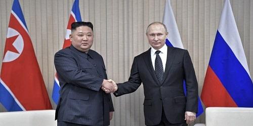 Vladimir Putin and Kim Jong