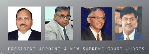 4 new Supreme Court judges