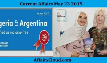 Current Affairs May 23 2019