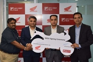 Honda Motorcycle partnered with IDFC First Bank