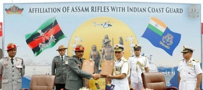 """ICGS and Assam Rifles signed """"Affiliation Charter"""""""