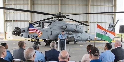 India receives its first Apache Guardian attack helicopter