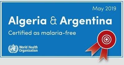 Malaria-free countries