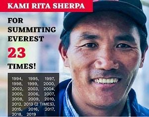 Nepali Sherpa Kami Rita