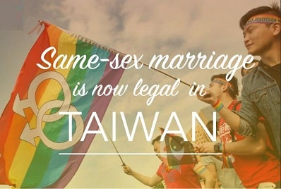 Taiwan legalise same-sex marriage