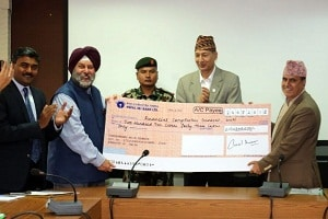 Centre has extended the Rs 1.6 Billion aid to Nepal