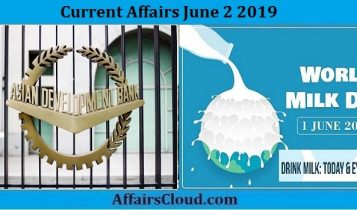 Current Affairs June 2 2019