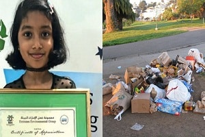 Indian girl honoured in UAE's waste recycling campaign