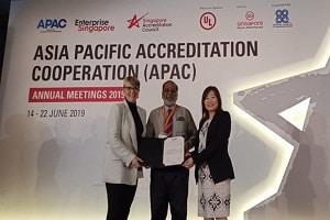 NABCB gets APAC certificate