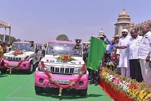 Pink Sarathi vehicles
