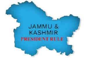 President's rule in J&K extended