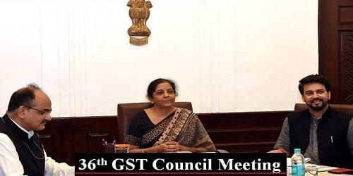 36th GST Council Meeting