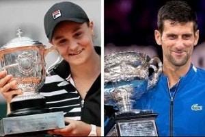 Ashleigh Barty, Novak Djokovic