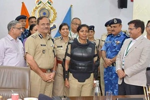 CRPF unveils country's first body protector