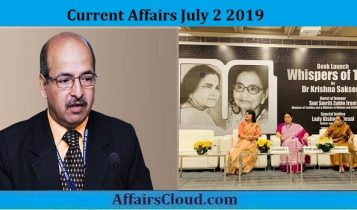 Current Affairs July 2 2019