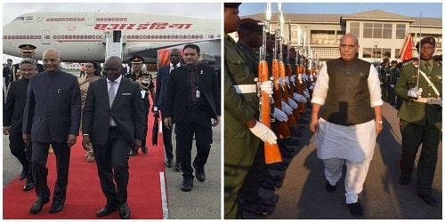 Defence minister Rajnath Singh's visit to Mozambique