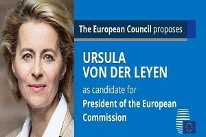 Germany's von der Leyen to lead EU Commission