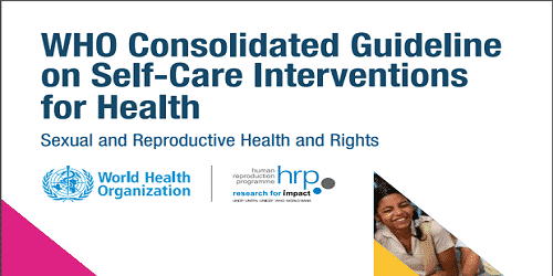 Guidelines on self-care interventions for health