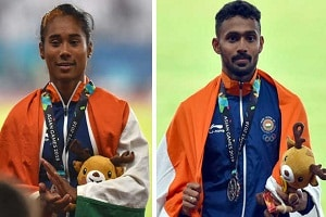 Hima Das and Muhammed Anas won gold medal