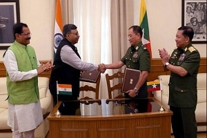 India signs MoU with Myanmar